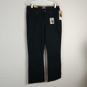 Lee Perfect Fit Black Denim Jeans, Sz 14 M